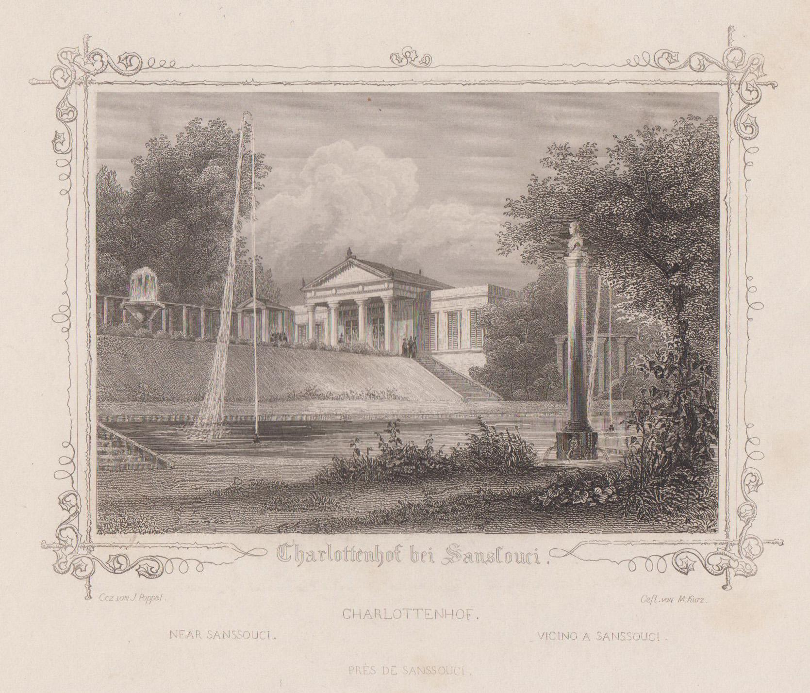 "Charlottenhof ( Schloß ), ""Charlottenhof bei Sanssouci"".: Potsdam - Park"