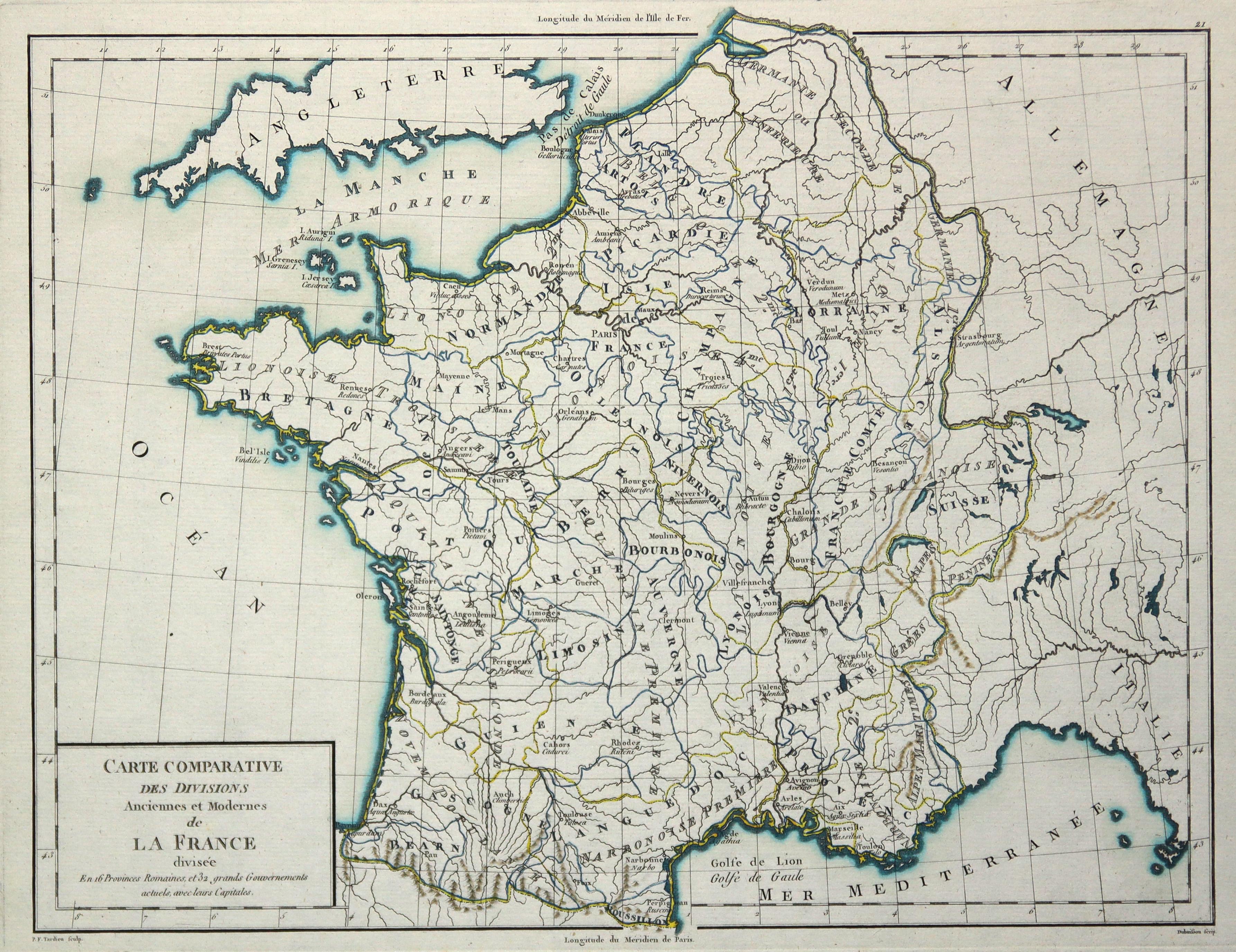 Kst.- Karte, v. P.F. Tardieu n. Herault,: Frankreich ( France