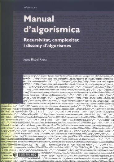Manual d'algorísmica. Recursivitat, complexitat i disseny d'algorismes - Bisbal Riera, Jesús