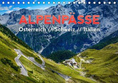 ALPENPÄSSE Österreich - Schweiz - Italien (Tischkalender 2021 DIN A5 quer) : Eine wunderschöne Reise durch die Alpen - Tirol, Graubünden und die Dolomiten (Monatskalender, 14 Seiten ) - Frank Kaiser