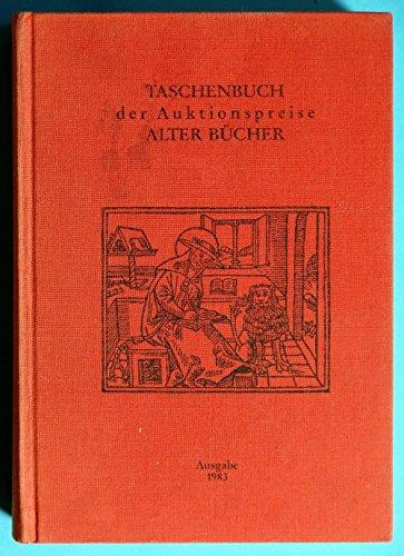 Taschenbuch der Auktionspreise Alter Bücher - Radtke, Friedrich