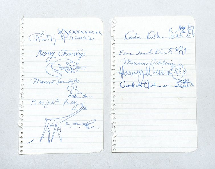 10 signatures by 10 US children's authors: KRAUSS, Ruth; Remy