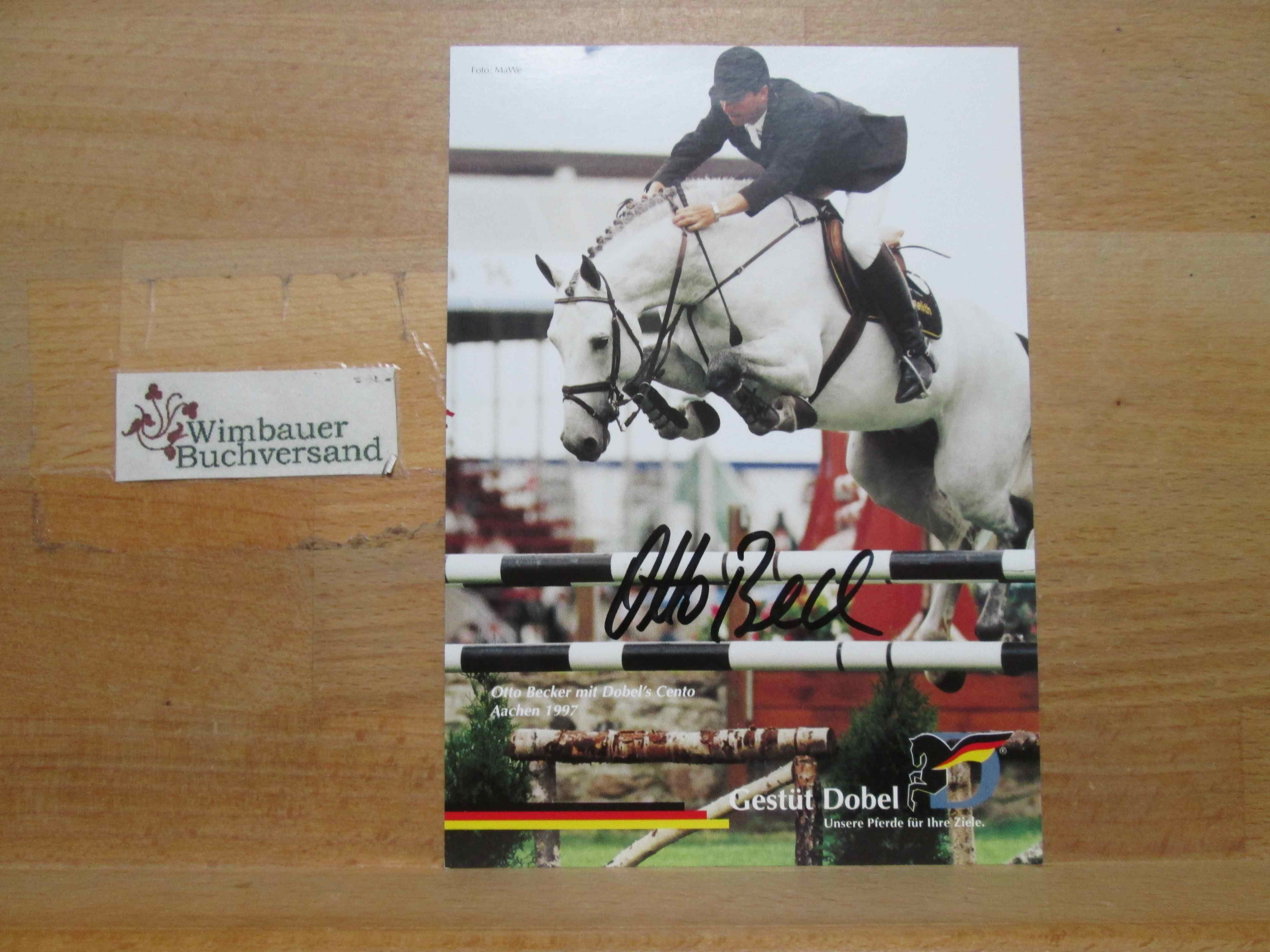 Original Autogramm Otto Becker Pferdesport /// Autograph: Becker, Otto :