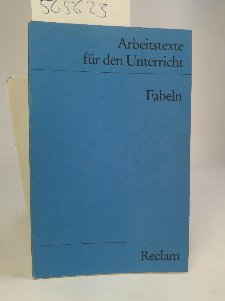 Fabeln: (Texte und Materialien für den Unterricht) Reclam Universal-Bibliothek Nr.:9519 - Poser, Therese