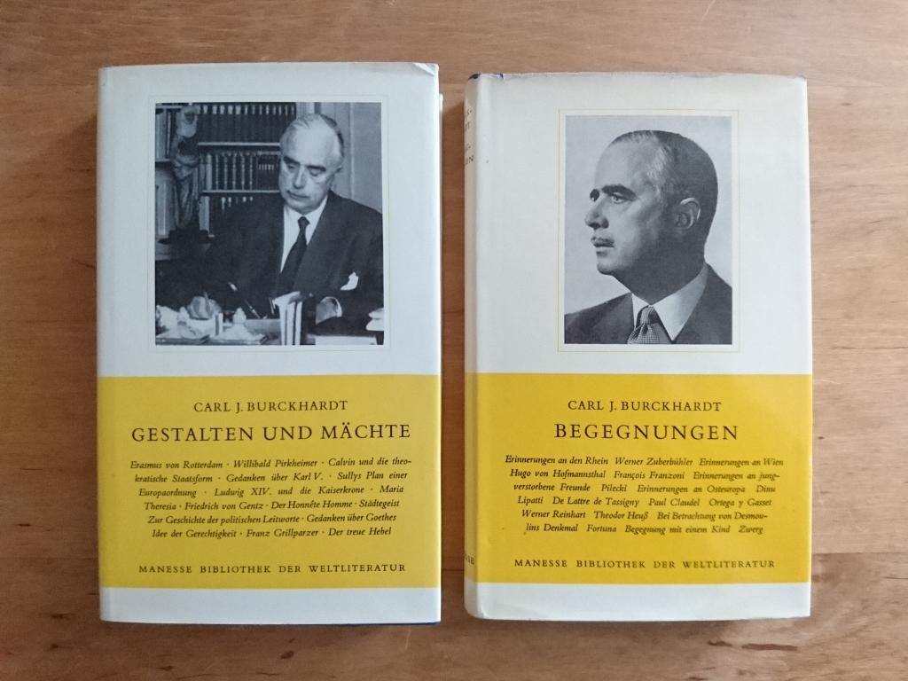 2 Bände in gleicher Ausstattung: Burckhardt, Carl J.