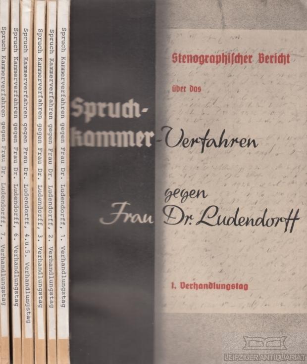 Stenographischer Bericht über das Spruchkammer-Verfahren gegen Dr.: Karg von Bebenburg,
