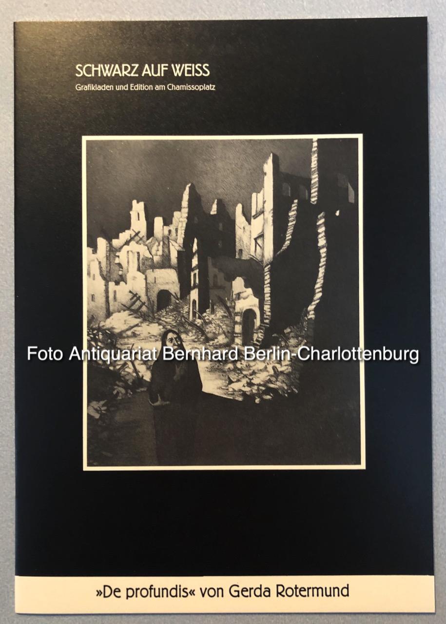 Gerda Rotermund. De profundis - Rotermund, Gerda; Herwig Roggemann (Vorwort)