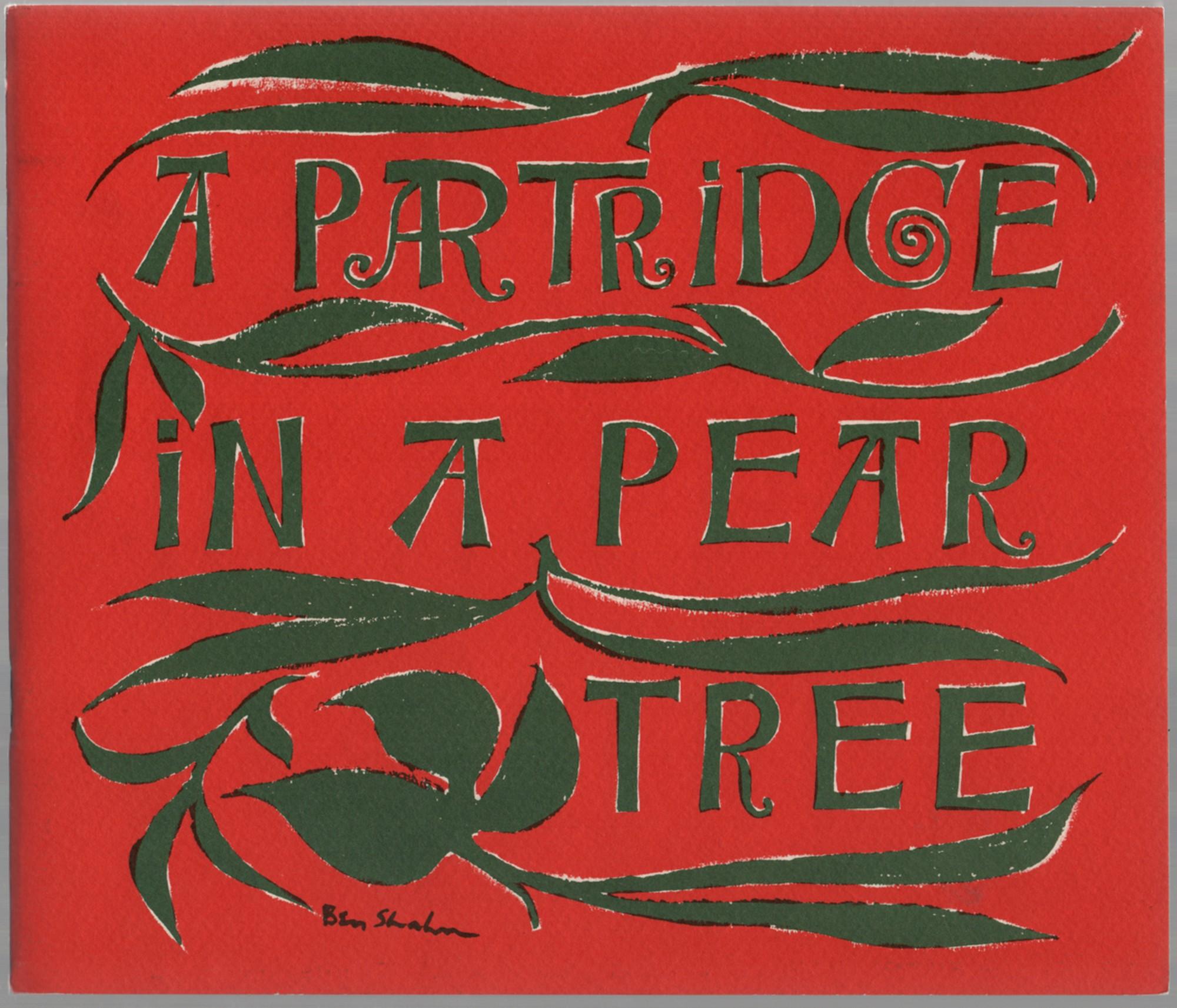 A Partridge in a Pear Tree: SHAHN, Ben