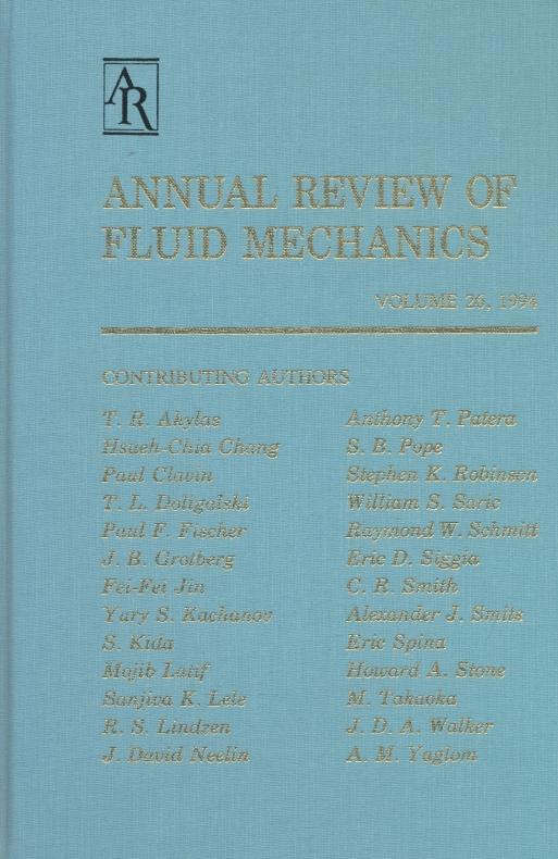 Annual Review of Fluid Mechanics: 1994.: Lumley, John L.;