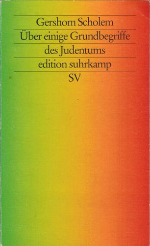 Über einige Grundbegriffe des Judentums.: Scholem, Gershom: