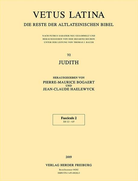 Vetus Latina. Die Reste der Altlateinischen Bibel.: Erzabtei Beuron (Hg.):