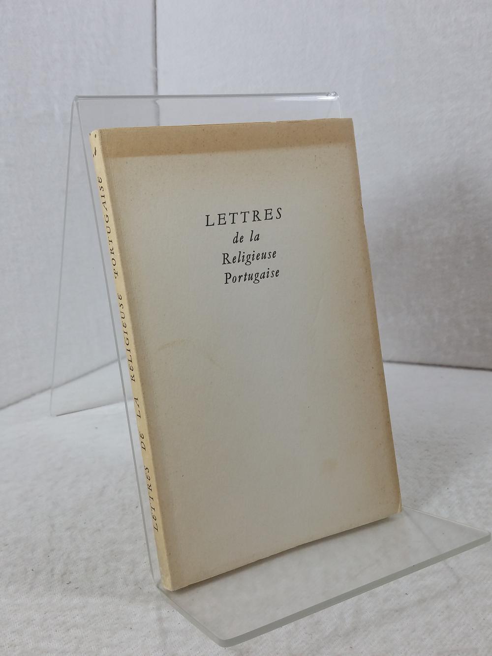 Lettres de la Religieuse Portugaise. Buch ist: Hazan, Fernand: