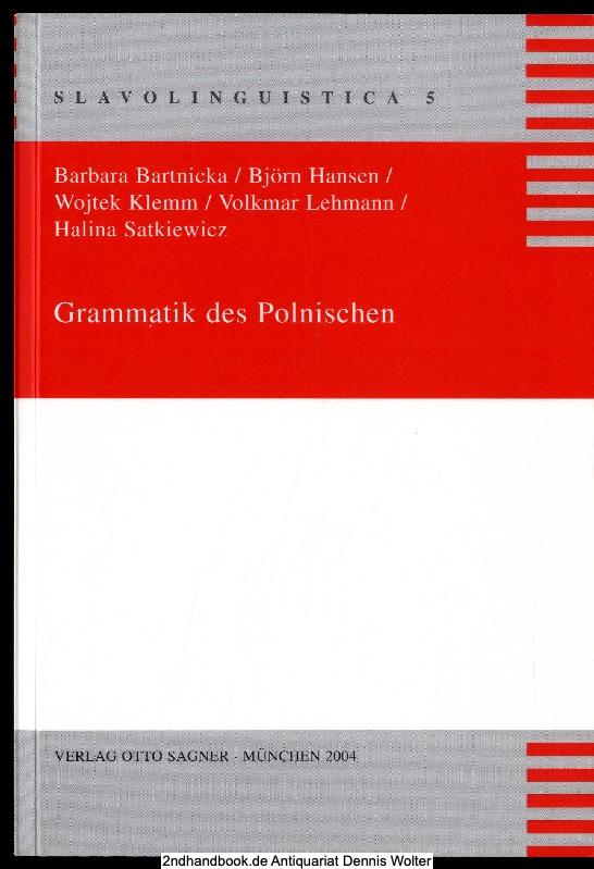 Grammatik des Polnischen: Barbara Bartnicka ;