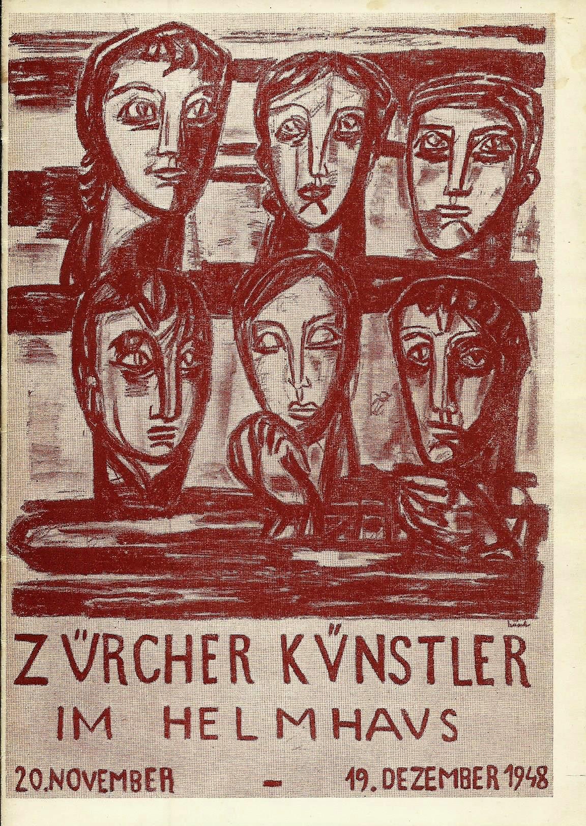 Ausstellung Zürcher Künstler im Helmhaus, 20. November: Stadt Zürich, Hrsg.