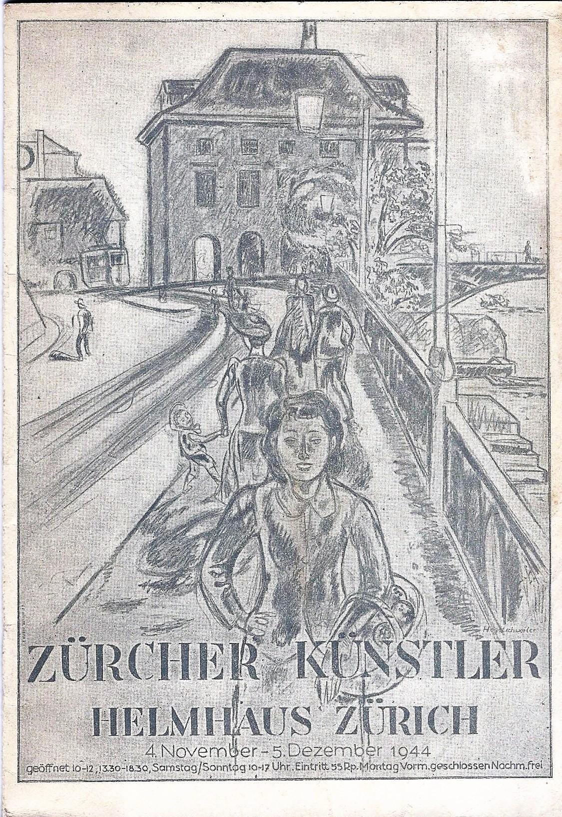 Ausstellung Zürcher Künstler im Helmhaus, 4. November: Stadt Zürich, Hrsg.