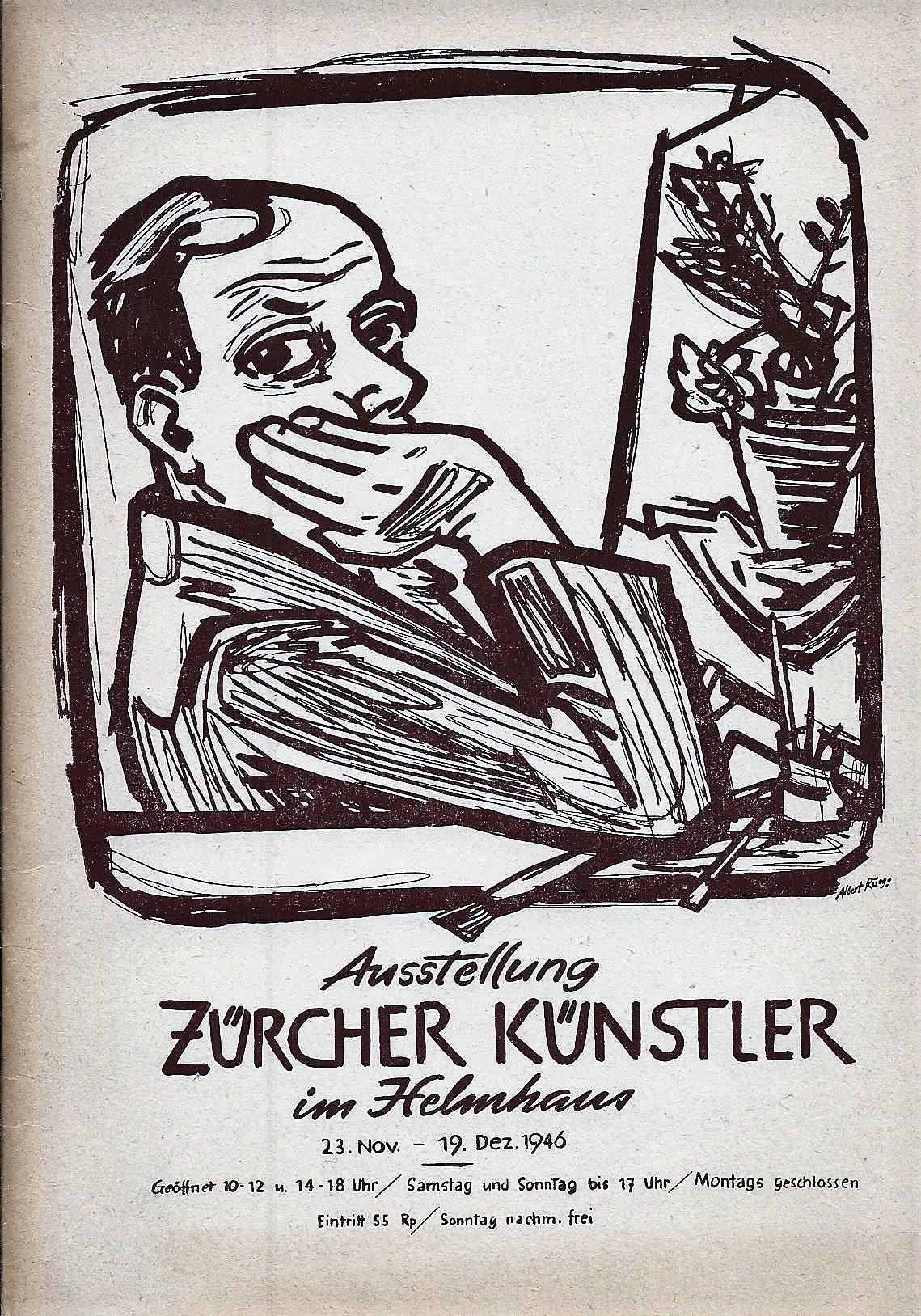 Ausstellung Zürcher Künstler im Helmhaus, 23. November: Stadt Zürich, Hrsg.