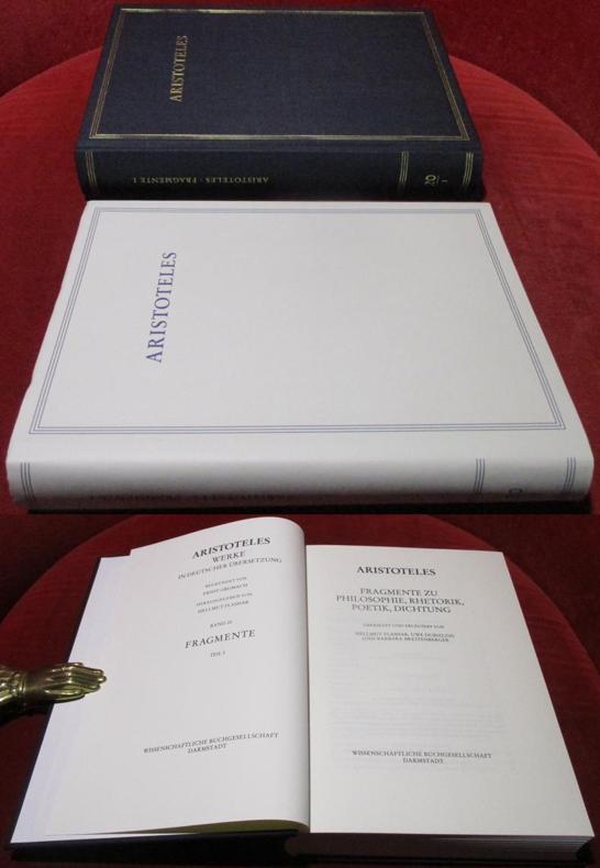 Aristoteles, Fragmente zu Philosophie, Rhetorik, Poetik, Dichtung,: Aristoteles