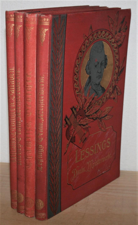"""4 Bände Illustrierte Klassiker-Ausgaben """"Minerva"""": Lessing (Dramatische: Lessing, Gotthold Ephraim,"""
