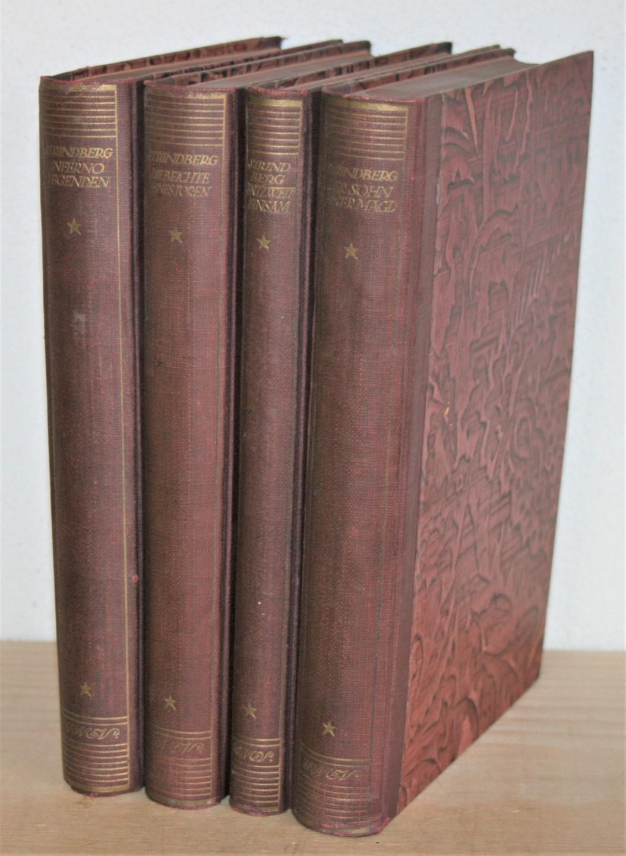 4 Bücher: Der Sohn einer Magd. Entzweit: Strindberg, August: