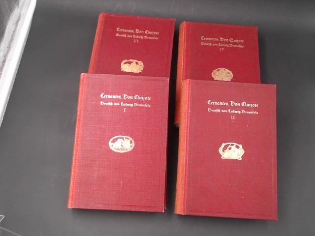 4 Bände zusammen - Der sinnreiche Junker: Cervantes, Miguel de: