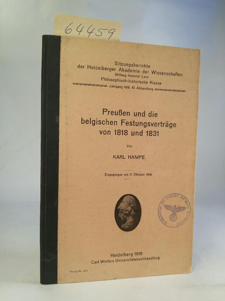 Preußen und die belgischen Festungsverträge von 1818: Hampe, Karl: