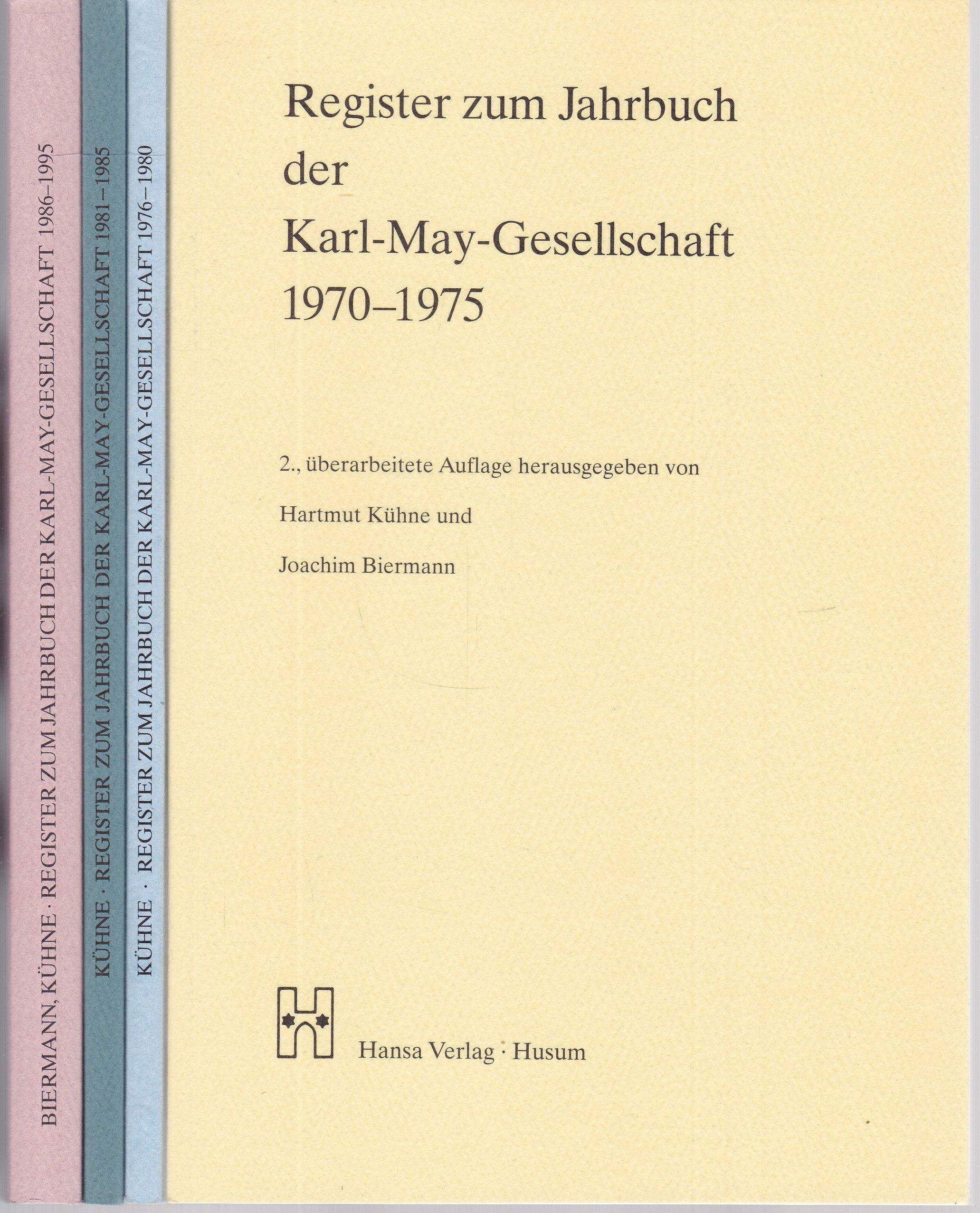 Register zum Jahrbuch der Karl-May-Gesellschaft 1970 -: Kühne, Hartmut