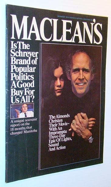 Maclean's - Canada's National Magazine, December 1970: Stewart, Walter; Cameron,