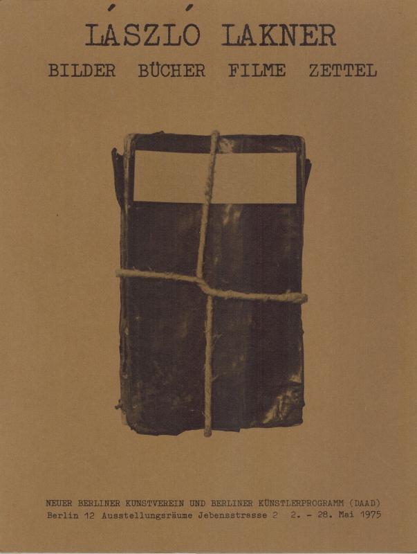 Bilder - Bücher - Filme - Zettel.: Lakner, László