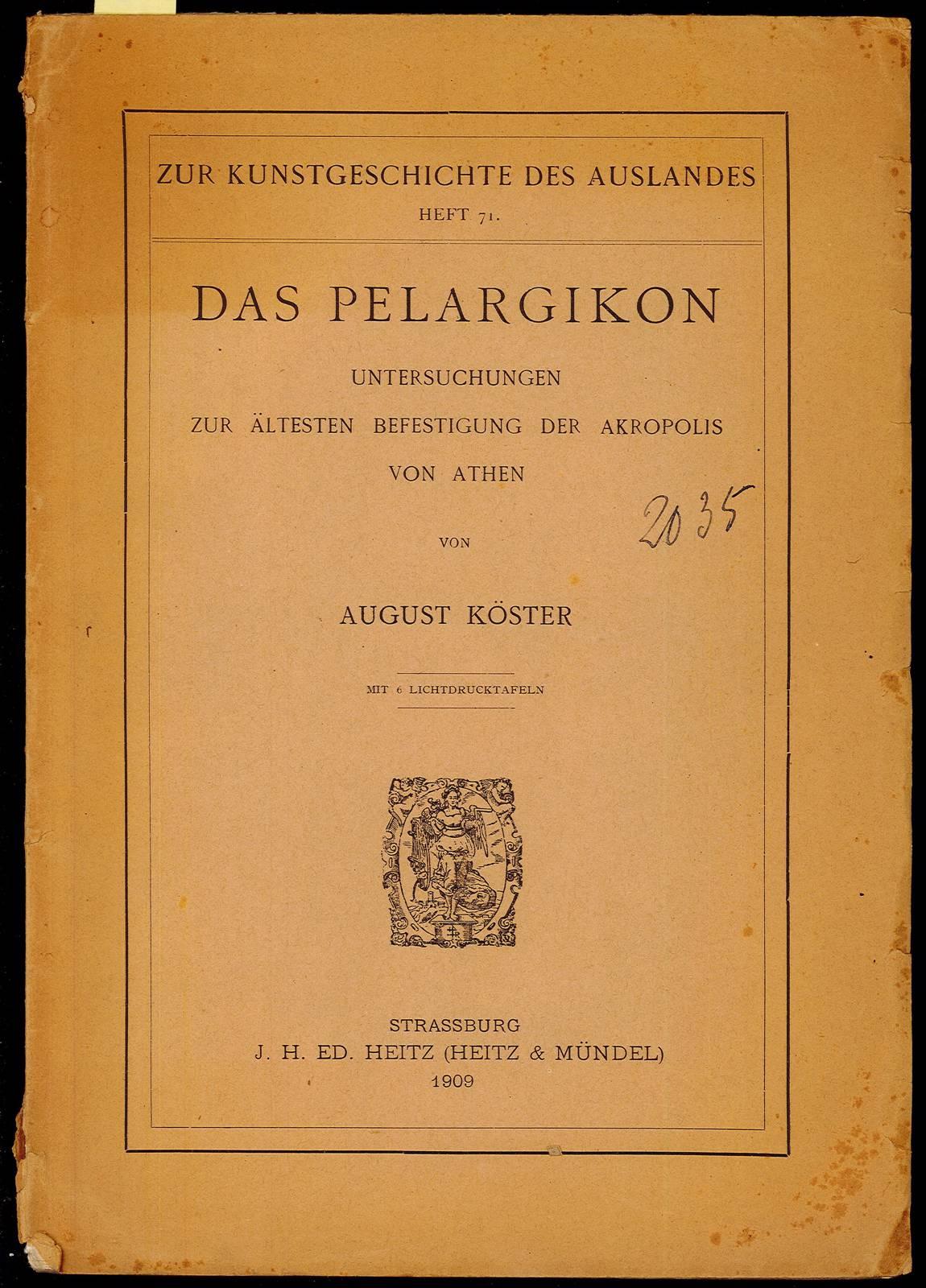 Das pelargikon: Koster August
