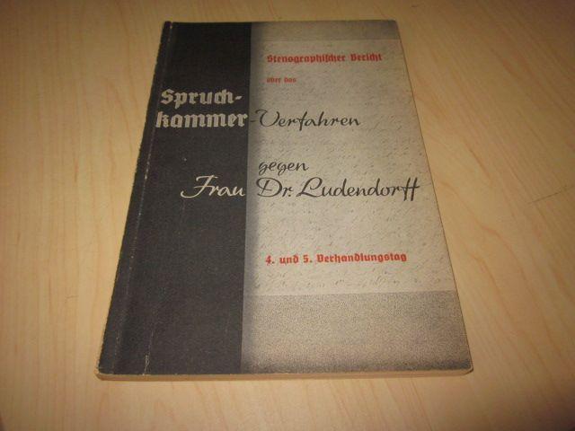 Stenographischer Bericht über das Spruchkammerverfahren gegen Frau: Bebenburg, Franz Frhr.