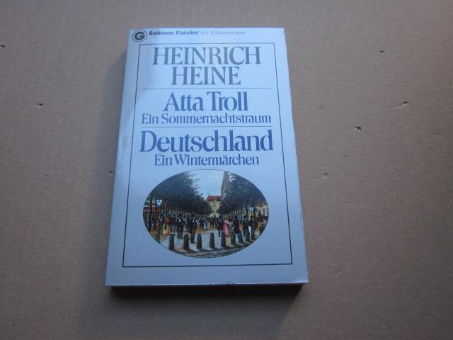Atta Troll-Ein Sommernachtstraum/Deutschland-Ein Wintermärchen: Heine, Heinrich: