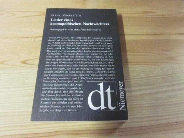 Lieder eines kosmopolitischen Nachtwächters: Dingelstedt, Franz: