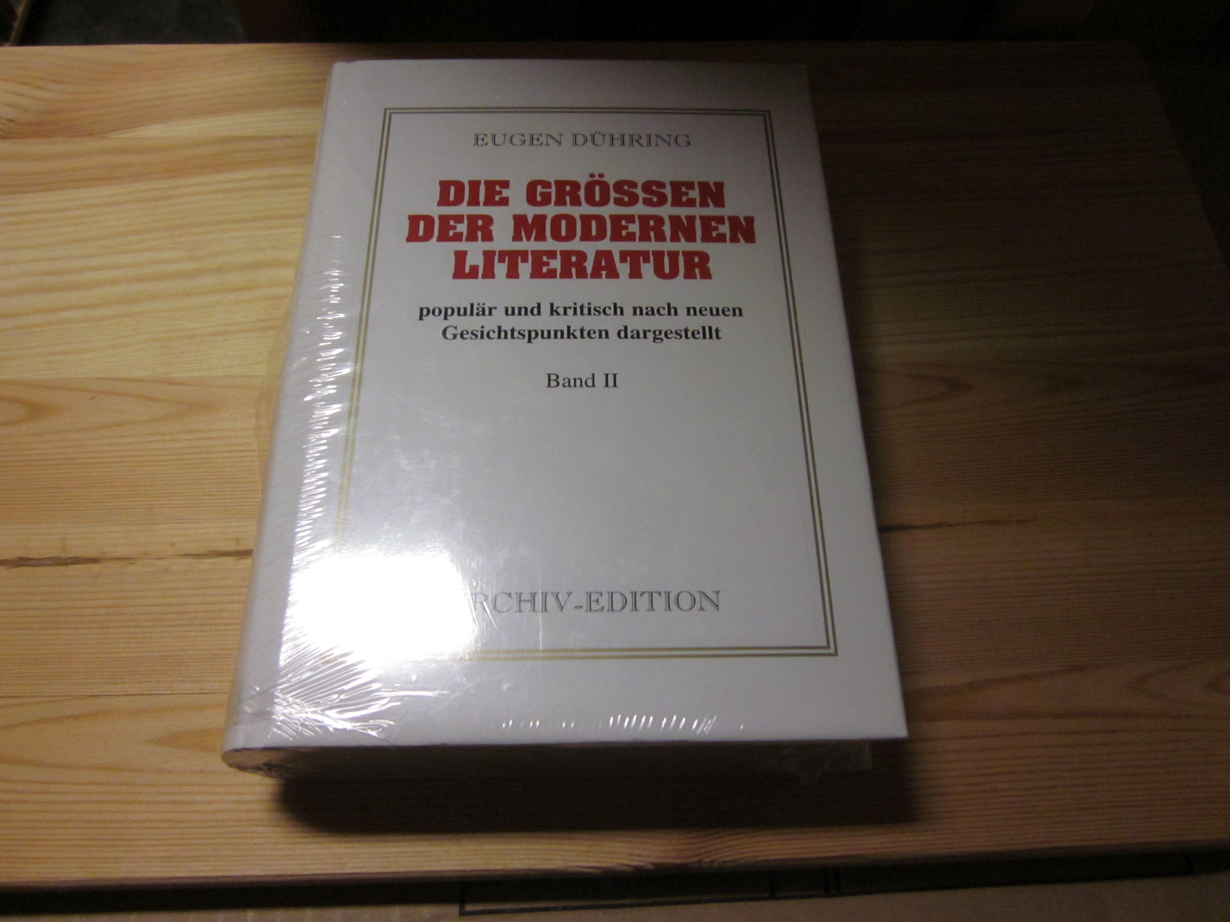 Die grössen der modernen Literatur populär und: Dühring, Eugen: