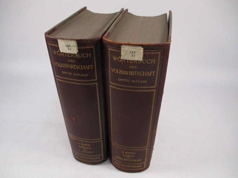 Wörterbuch der Volkswirtschaft in zwei Bänden. (Bände: Elster, Ludwig [hrsg.],