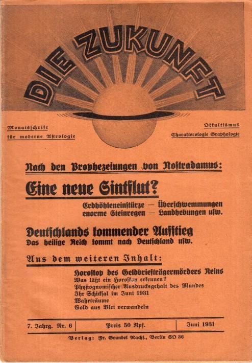 Die Zukunft. 7. Jahrg. Nr. 6 Juni: Zukunft, Die. -