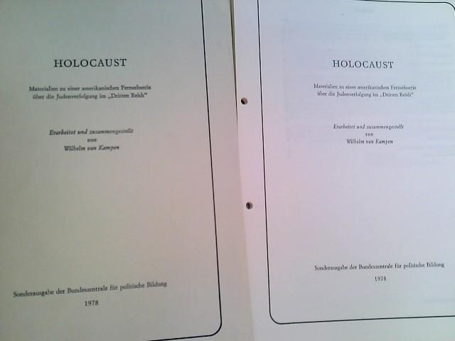 Holocaust. Materialien zu einer amerikanischen Fernsehserie über: van Kampen, Wilhelm