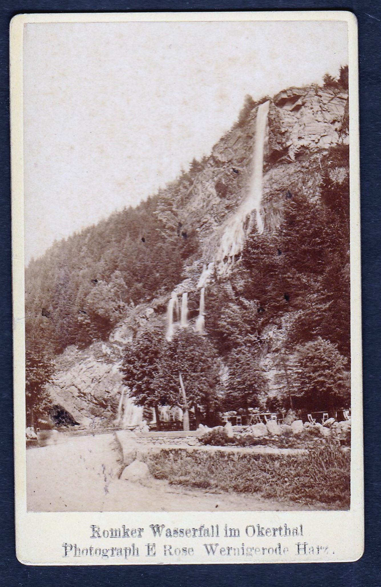"Romker Wasserfall im Okerthal."" - Okertal Harz: Rose, E.:"