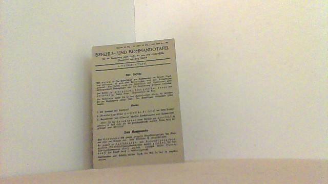 4. Wehrsporttafel. Befehls- und Kommandotafel.: Schiele, Fritz u.a.,