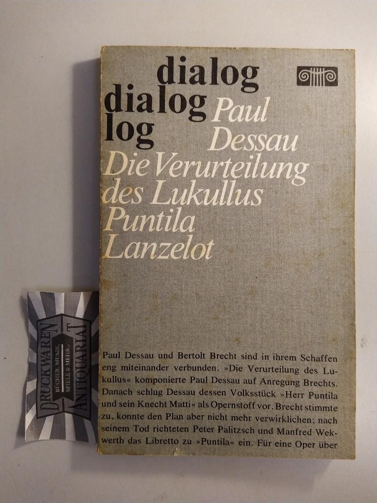 Paul Dessau: Opern. Die Verurteilung des Lukullus: Dessau, Paul: