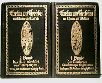 Konvolut aus 2 Bänden ! Tierbau und: Dr. Richard Hesse