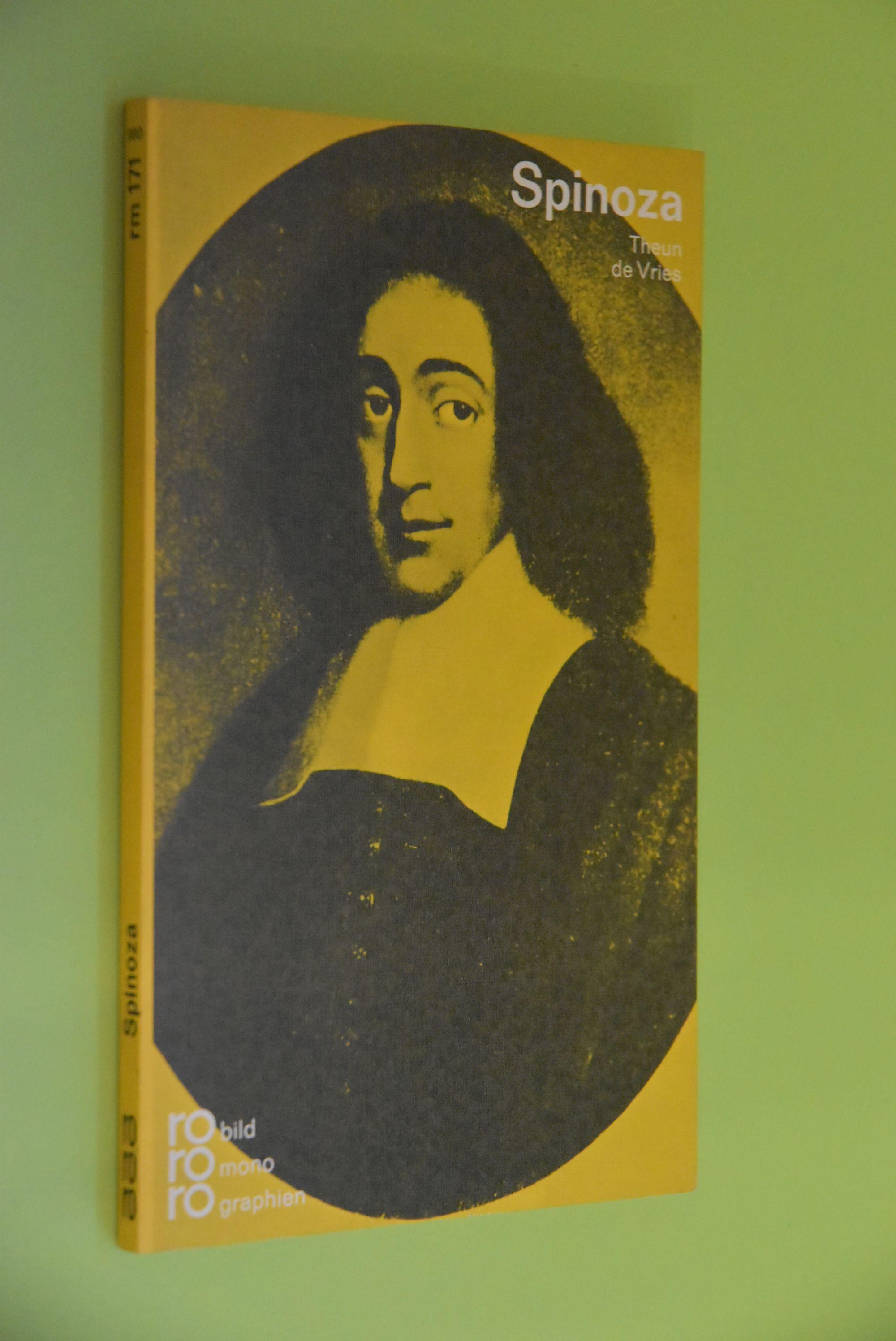 Baruch de Spinoza in Selbstzeugnissen und Bilddokumenten. Dargestellt. [Aus d. niederländ. Ms. übertr. von Elisabeth Meter-Plaut. Den dokumentar. u. bibliograph. Anh. besorgte d. Autor] / rowohlts monographien ; 171 - Vries, Theun de