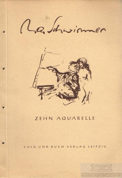 Zehn Aquarelle.: Schwimmer, Max.