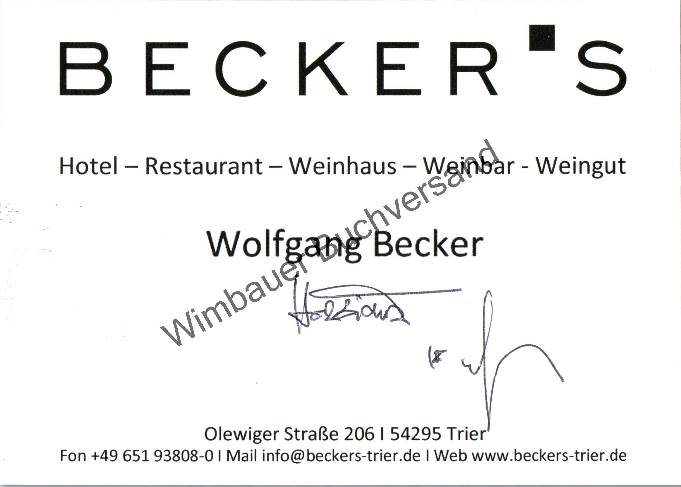 Original Autogramm Wolfgang Becker Sternekoch /// Autograph: Becker, Wolfgang :