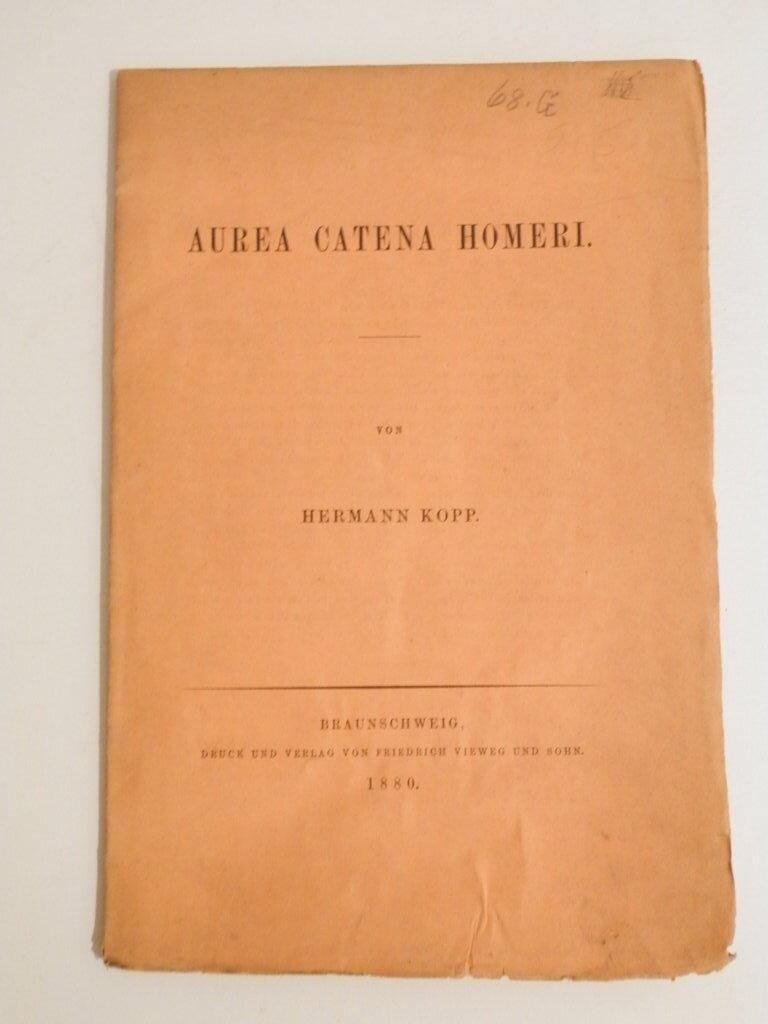 Aurea catena Homeri: Kopp, Hermann
