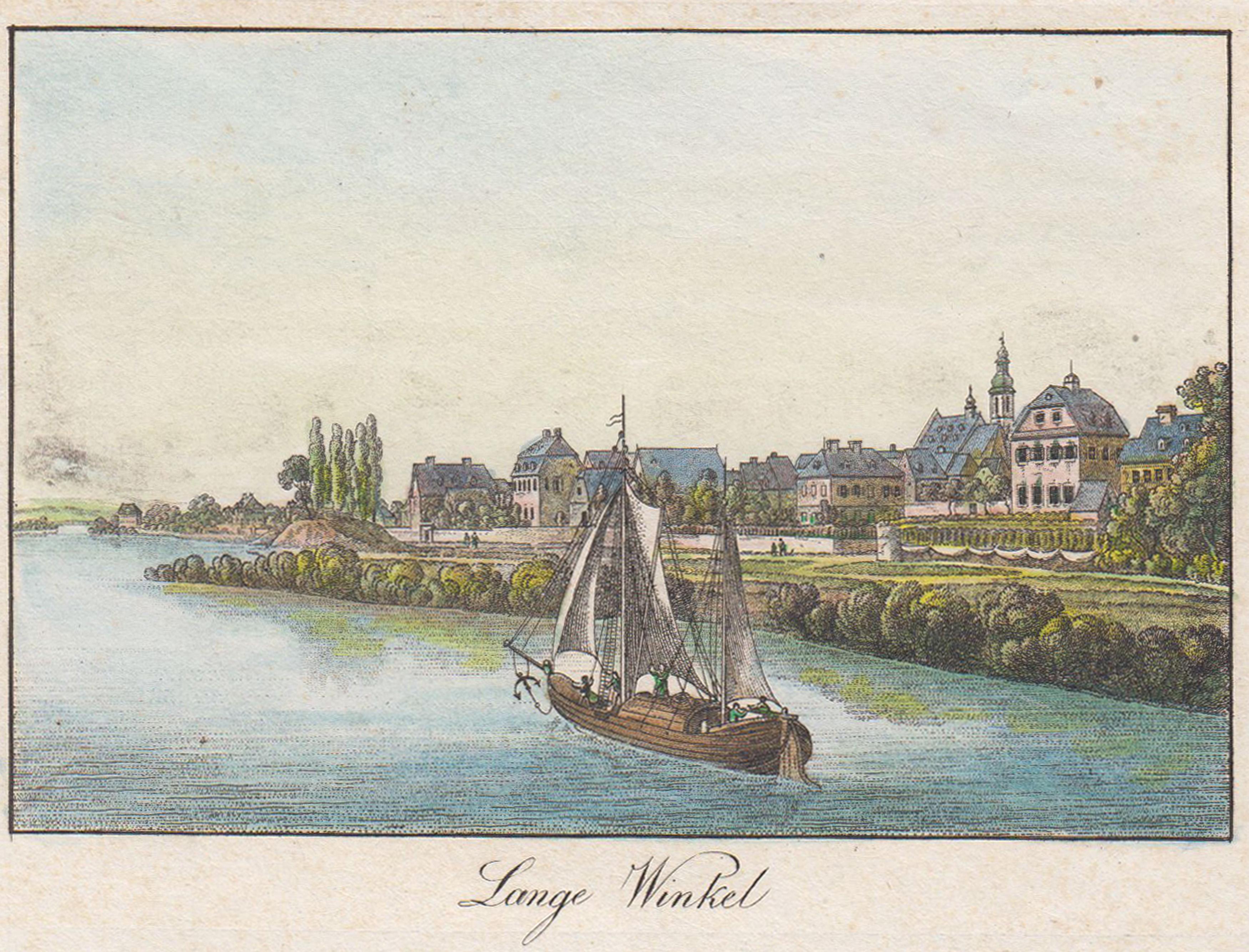 """Gesamtans. v. Rhein aus, """"Lange Winkel"""".: Oestrich - Winkel:"""