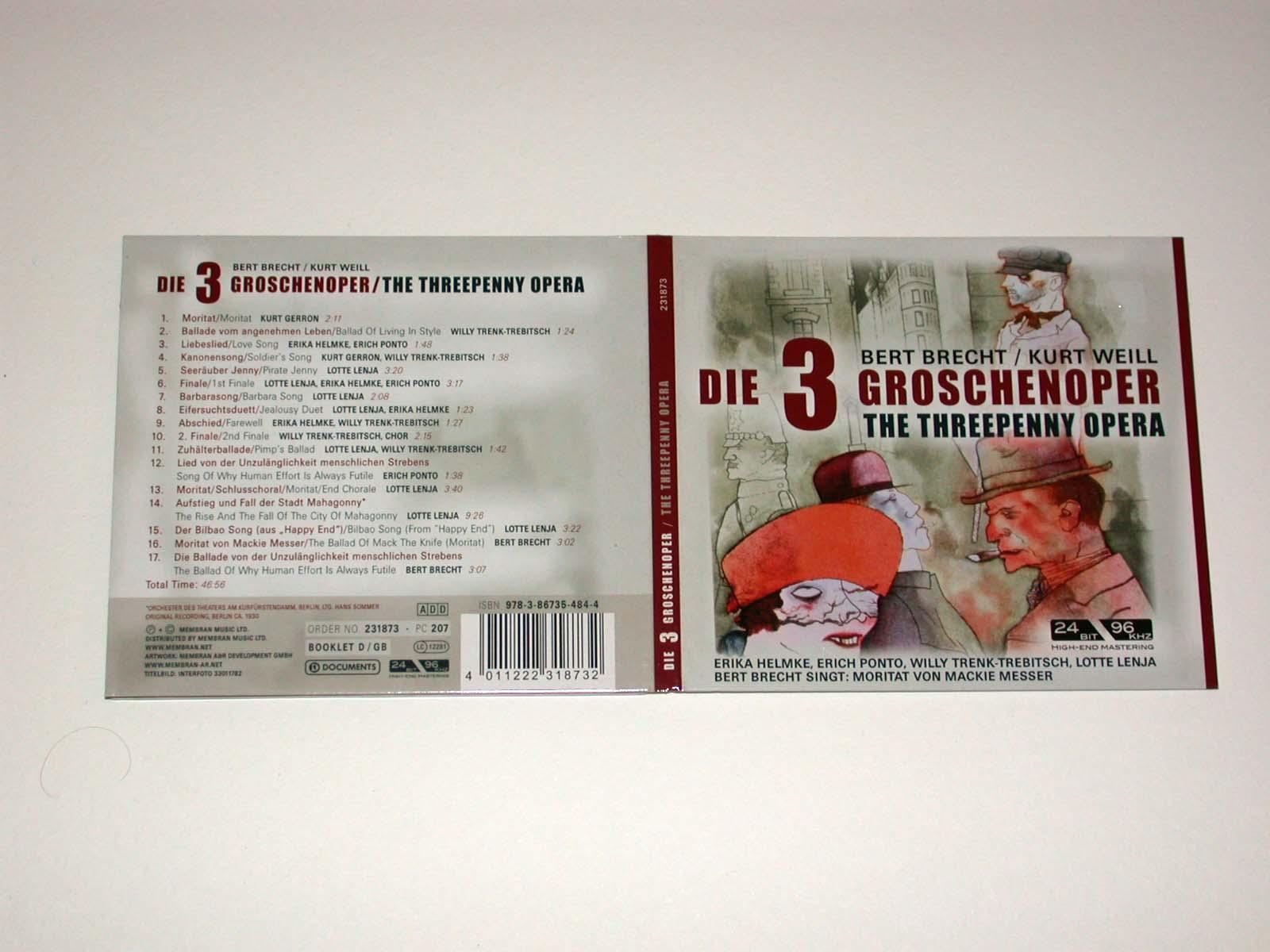 Die 3 Groschenoper.: Bert Brecht /