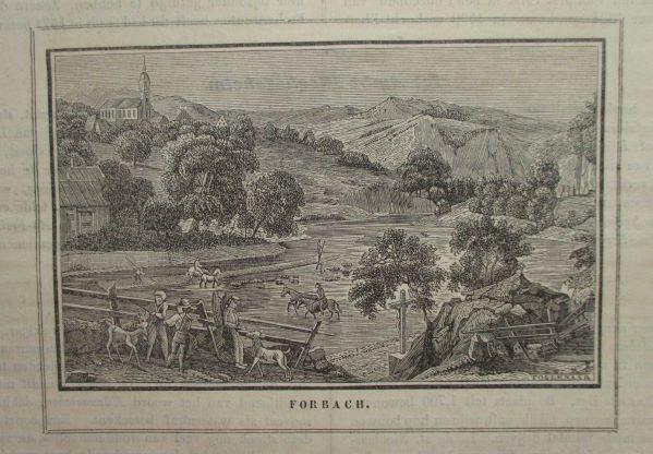 Schöne Ansicht mit Blick auf die Murg.: Forbach/Baden.