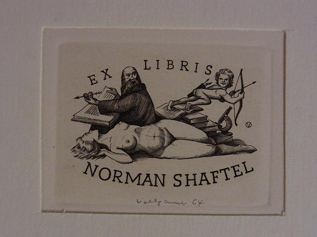 Erotisches Exlibris für Noman Shaftel. Liegender weiblicher: Volkamer, Oswin: