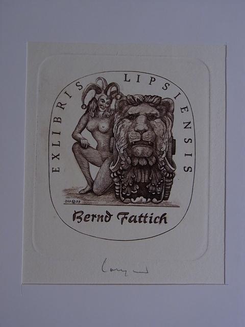 Erotisches Exlibris Lipsiensis für Bernd Fattich. Weiblicher: Volkamer, Oswin: