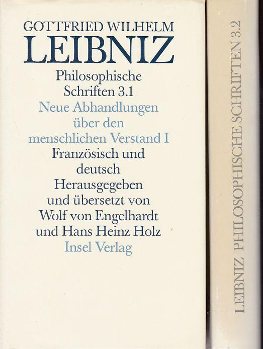 Gottfried Wilhelm Leibniz: Philosophische Schriften 3.1 und: Leibniz, Gottfried Wilhelm,